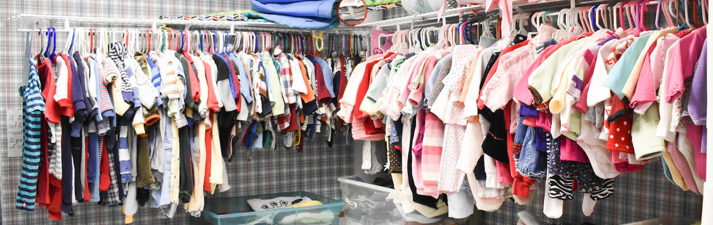 Baby clothes available at the Baby Pantry