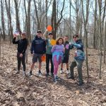 Youth at a disc golf outing