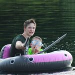 Youth group lake outing