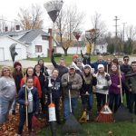 Leaf clean up service project
