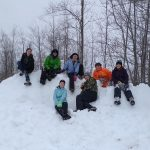 Teens on sledding trip